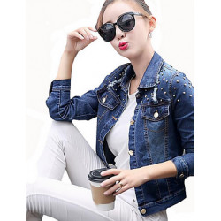 Chaqueta de Denim con remaches